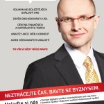 Today in Business TV program with Yann Zane (print ad from Euro business magazine)